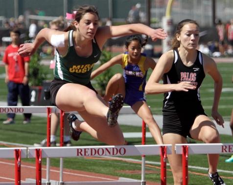 Mira Costa hurdler Juliana Loiola is coming off a strong performance at the Cal Relays. Photo by Ray Vidal