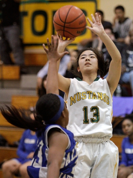 Keilani Ikehara's hot hand helped No. 8 Mira Costa knock off top-seeded Cajon in the quarterfinals. Photo by Ray Vidal