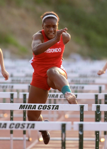 Redondo junior Kristen Hamlin is expected to be one of the top hurdlers in the area this season. Photo by Ray Vidal