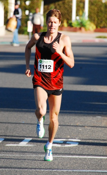 Olympic hopeful Lukas Verzbicas won the 11th edition of the Village Runner St. Patrick's Day 5K. Photo by Randy Angel