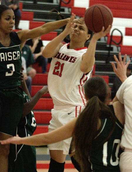 Meghan Peneueta continued to have a stellar postseason scoring 24 points in Redondo's quarterfinal victory. Photo by Ray Vidal