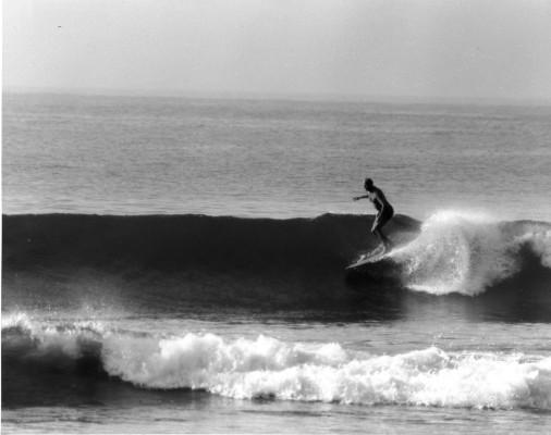 Warren Miller at Malibu in 1940. Photo courtesy of Chris Miller