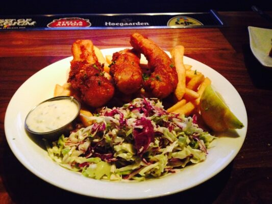 Fishbar's fish and chips. Photo
