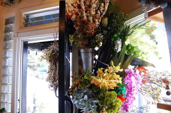 Growing Wild's custom-made flower arrangements inside the downtown Manhattan Beach shop. Photo by Esther Kang