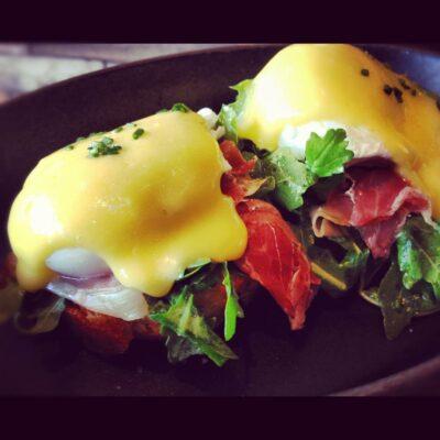 Eggs Benedict at MB Post.