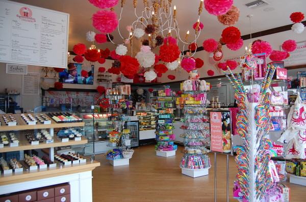 Manhattan Beach Creamery boasts a wide selection of handmade ice cream flavors as well as candies and baked goods. Photo