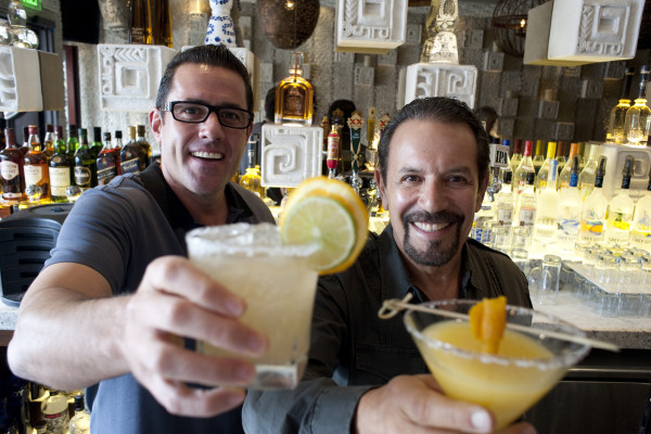 Palmilla's Greg and Ron Newman with their  signature margaritas. Photo by Chelsea Shreiber.