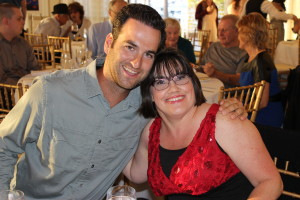 Tammy Rogers with Center for Health & Fitness staff member and friend Ryan Elmendorf, who presented Tammy with her Spirit of Wellness award.