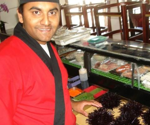 Sushi chef Sanji. Photo by Joann Row
