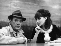 """A restored print of Jean-Luc Godard's science fiction and noir thriller """"Aphaville"""" screens for one week beginning Friday at the Nuart Theatre, 11272 Santa Monica Blvd., Los Angeles. Pictured, Eddie Constantine and Anna Karina. (310) 473-8530 or go to LandmarkTheatres.com."""