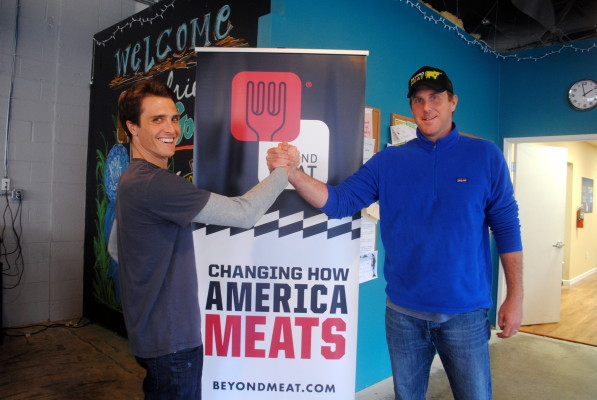 Beyond Meat founders Brent Taylor and Ethan Brown were meant to meet. Photo by Kelley Kim