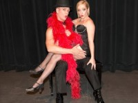"""Cabaret,"""" the Tony Award-winning musical by John Kander and Fred Ebb, is onstage in the Campus Theatre at El Camino College, Crenshaw and Redondo Beach boulevards, Torrance. """"Performances at 8 p.m. on Friday and Saturday: April 25, 26; May 2, 3; and at 3 p.m. on Sunday: April 27; May 4. Valerie Rachelle directs. Tickets, $25 general; $18 children under 18 – but not recommended for children. Pictured, Andrew Blake Ames as the Emcee and Virginia Brazier as Sally Bowles. (310) 329-5345 or go to centerforthearts.org. COURTESY OF EL CAMINO COLLEGE"""
