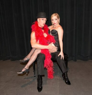 "Cabaret,"" the Tony Award-winning musical by John Kander and Fred Ebb, is onstage in the Campus Theatre at El Camino College, Crenshaw and Redondo Beach boulevards, Torrance. ""Performances at 8 p.m. on Friday and Saturday and 3 p.m. on Sunday. Pictured, Andrew Blake Ames as the Emcee and Virginia Brazier as Sally Bowles. COURTESY OF EL CAMINO COLLEGE"