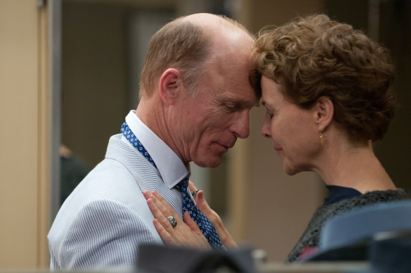Ed Harris (Tom Young) and Annette Bening (Nikki Lostrom)in Arie Posin's THE FACE OF LOVE.  Courtesy of Dale Robinette.  An IFC Films release.