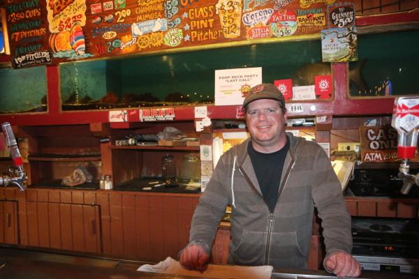 Bartender Chris Chandless.