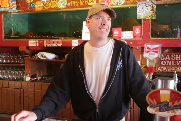 Bob Schwartz began bartending at the Poop Deck in 1996.
