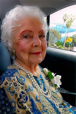 Laverne Ashlock on her way to her 100th birthday party at Bluewater Grill in Redondo Beach. Photo courtesy of Laverne Ashlock.