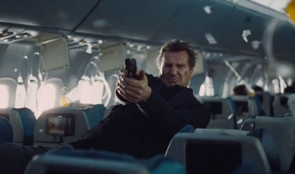 Liam Neeson as Agent Bill Marks in the film 'Non-Stop'. Photo Courtesy of Universal