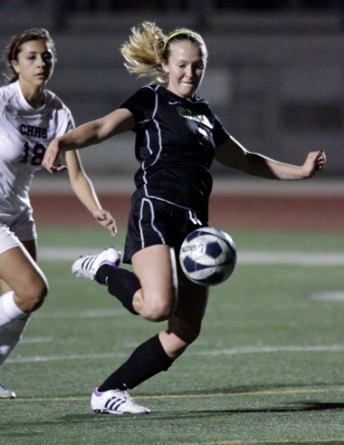 Mandy McKeegan was one of three Mira Costa players named to the All-CIF Division 2 girls soccer team. Photo by Ray Vidal