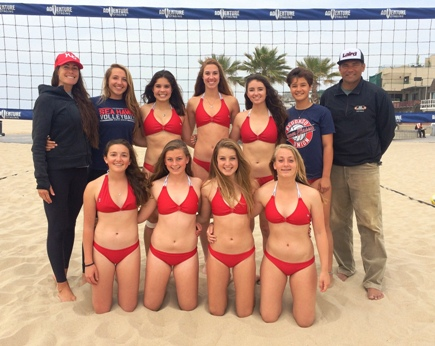 Undefeated Redondo Union takes on rival Mira Costa for the IBVL Bay Division title. Team members include (top row, left to right) Coach Jessica Jones, Madi Relaz, Brittany Ungermann, Marissa Mitter, Lauren Cordero, Fayth Ryn, Coach Mark Paaluhi, (bottom row) Rachel Arrigo, Keely Twitchell, Kaleigh Hanley and Jessica Koopmann. Not pictured: Abril Bustamante, Dominique Dodd. Photo courtesy of Jessica Jones