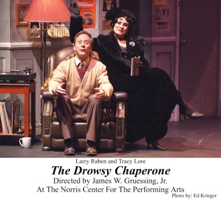 """Larry Raben and Tracy Lore in """"The Drowsy Chaperone."""" COURTESY OF ED KRIEGER"""