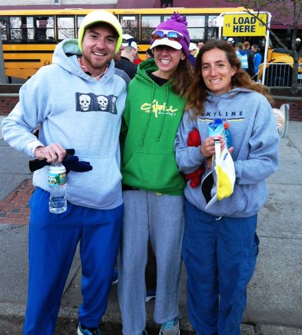 Jimmy Wills, Erin Beresini and Robyn Dunn conquered the 118th Boston Marathon. Photo courtesy of Jimmy Wills