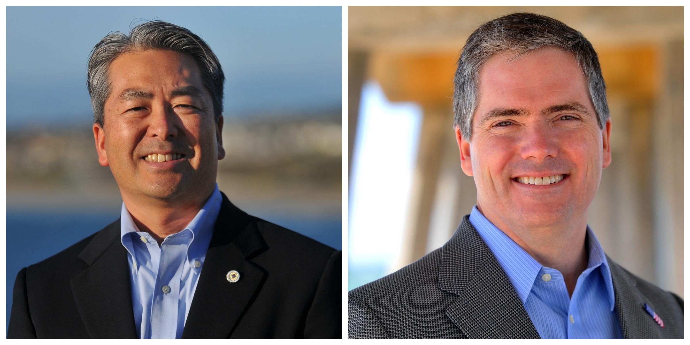 Incumbent Assemblymember Al Muratsuchi (left) will defend his seat against Republican challenger David Hadley this November.