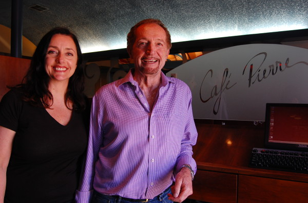 Sylvie and Guy Gabriele inside Cafe Pierre on Manhattan Beach Boulevard in downtown.