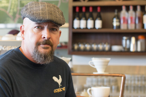 Cork'er's Larry Killian, who has brought an authentic taste of his family's heritage to the bookish little cafe attached to Mysterious Galaxy on Artesia Boulevard.  Photo by Brad Jacobson