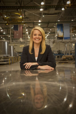 Gwynne Shotwell, President and COO of SpaceX. Photo property of SpaceX.
