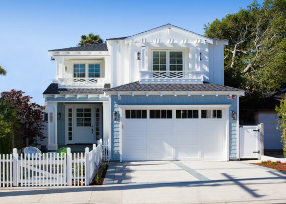 Newly built, this home is in the tradition of California Coastal design.