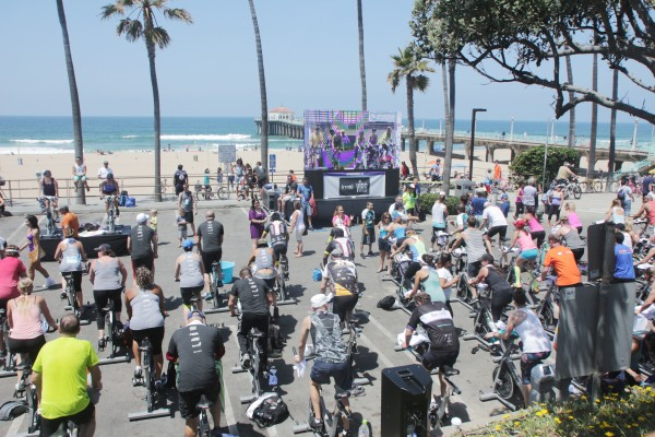 Over 1,200 cyclists participated in the Tour de Pier at the Manhattan Beach pier.
