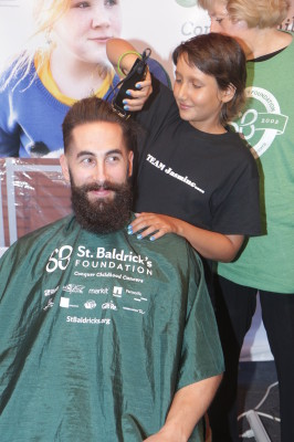 Jasmine Faulk takes the shears to a member of Team Jasmine, with the understanding that she not touch the beard.