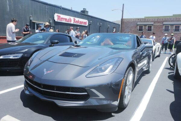 Kevin Michael's 2014 cyber gray Z51 Stingray led the rally.