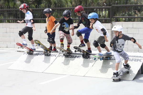 "PCH Skate Camp skaters take the ""big"" drop. Photo courtesy of PCH SKate Camp"