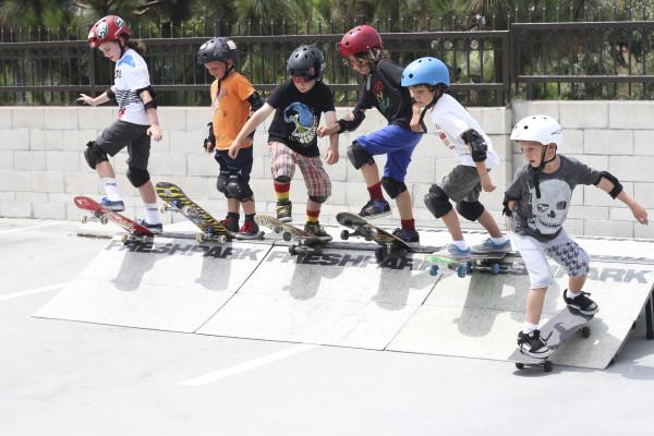 "PCH Skate Camp skaters take the ""big"" drop. Photo courtesy of PCH SKate Camp"