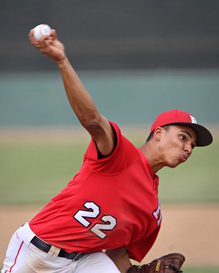 Redondo ace Cassius Hamm hurled a two-hitter with nine strikeouts.