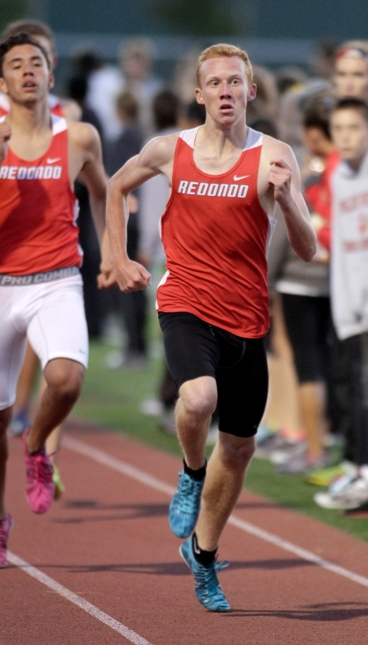 Redondo's Dustin Herold qualified in three events at the Prelims. Photo by Ray Vidal