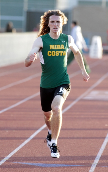 Josh Block was the boys 400 champion with a time of 50.52 seconds. Photo by Ray Vidal