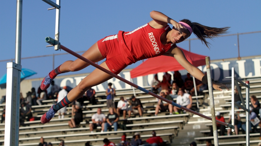Redondo Union pole vaulter Kaitlin Heri was one of eight Sea Hawks to qualify for the CIF State Championships. Photo by Ray Vidal