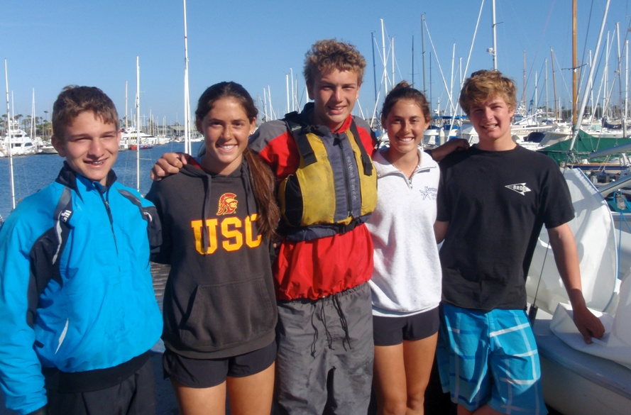 The Mira Costa High School Sailing Team capped off their season at the Pacific Coast Championships in San Diego. The team qualified for the upper level Gold Fleet and finished 15th among the top 30 teams. Their strong finish at this invitational regatta secured them an overall 16th place season finish out of 59 teams in the Pacific Coast region. Team members include Chris Andrews, Leah James, Geoffrey St. John, Sara James, and Peter Neal. Head coach is Jake Sorosky. The Mira Costa High School Sailing Team is run in partnership by the King Harbor Youth Foundation.