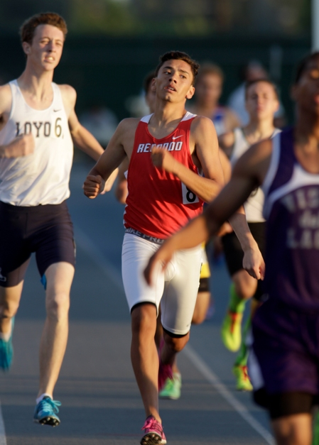 Finishing seventh in the 800, Sergio Rodriguez was one of three runners on Redondo's boys team to advance to the State meet. Photo by Ray Vidal