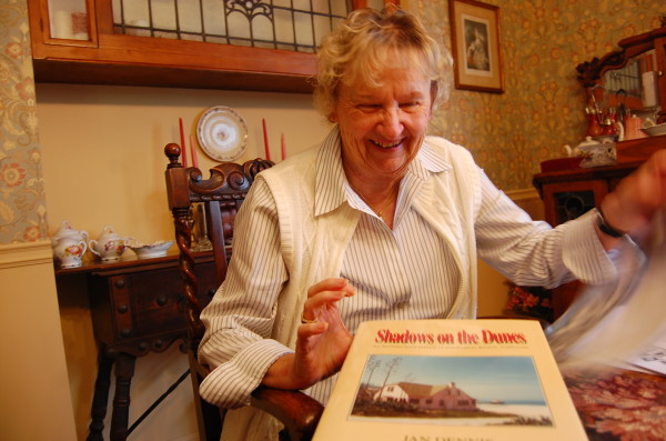 Jan Dennis, a 54-year resident of Manhattan Beach and a former mayor, is writing her eighth book on the city's history. Photo by Esther Kang
