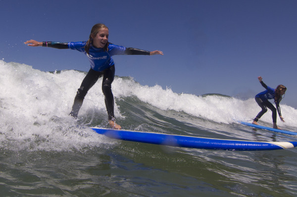 A very happy camper at Camp Surf ran by SurfCamp director Tommy Ostendorf. Photo courtesy of CampSurf