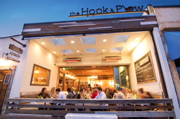 Hook & Plow, a new restaurant that has helped enliven Hermosa Beach's Upper Pier Avenue area.