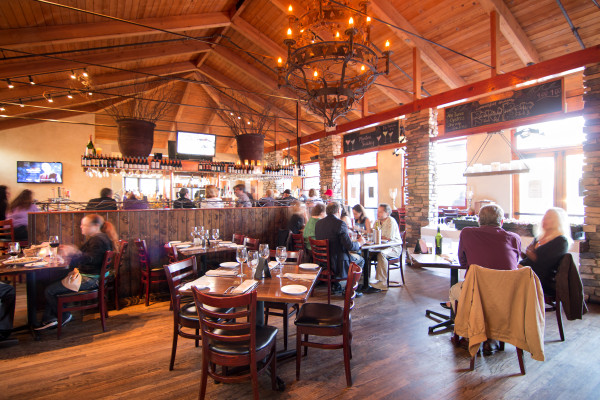 HT Grill's dining room is warm and expansive.