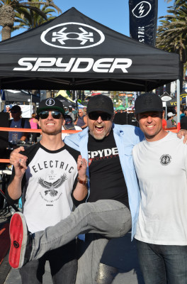 Dennis Jarvis, Dickie OReilly, and Jani Lange at this year's Spyder Surf Fest.