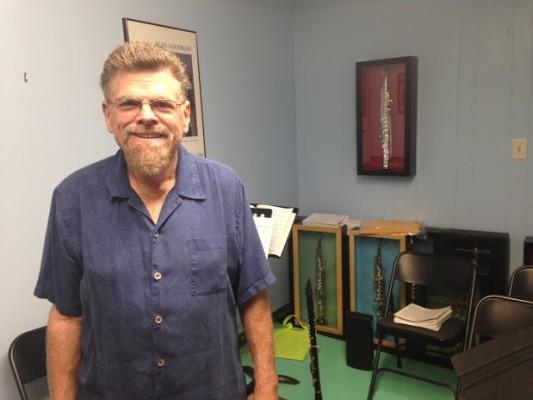 David Stanton inside his practice space in Torrance. Photo by Alyssa Morin