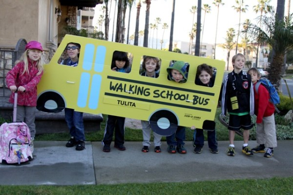 The Tulita Walking School Bus encourages youngsters to walk to school and boosts socialization.