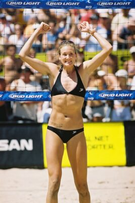 Three time Olympic gold medalist Kerri Walsh Jennings of Manhattan Beach will be hoping for a repeat of last years Manhattan Open victory when the AVP returns to Manhattan Beach in August. Photo by Ray Vidal
